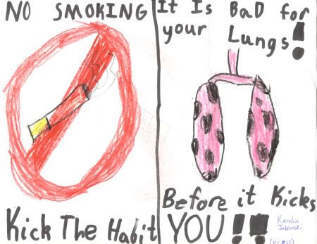 인터넷 어딘가에서 찾은 금연 포스터