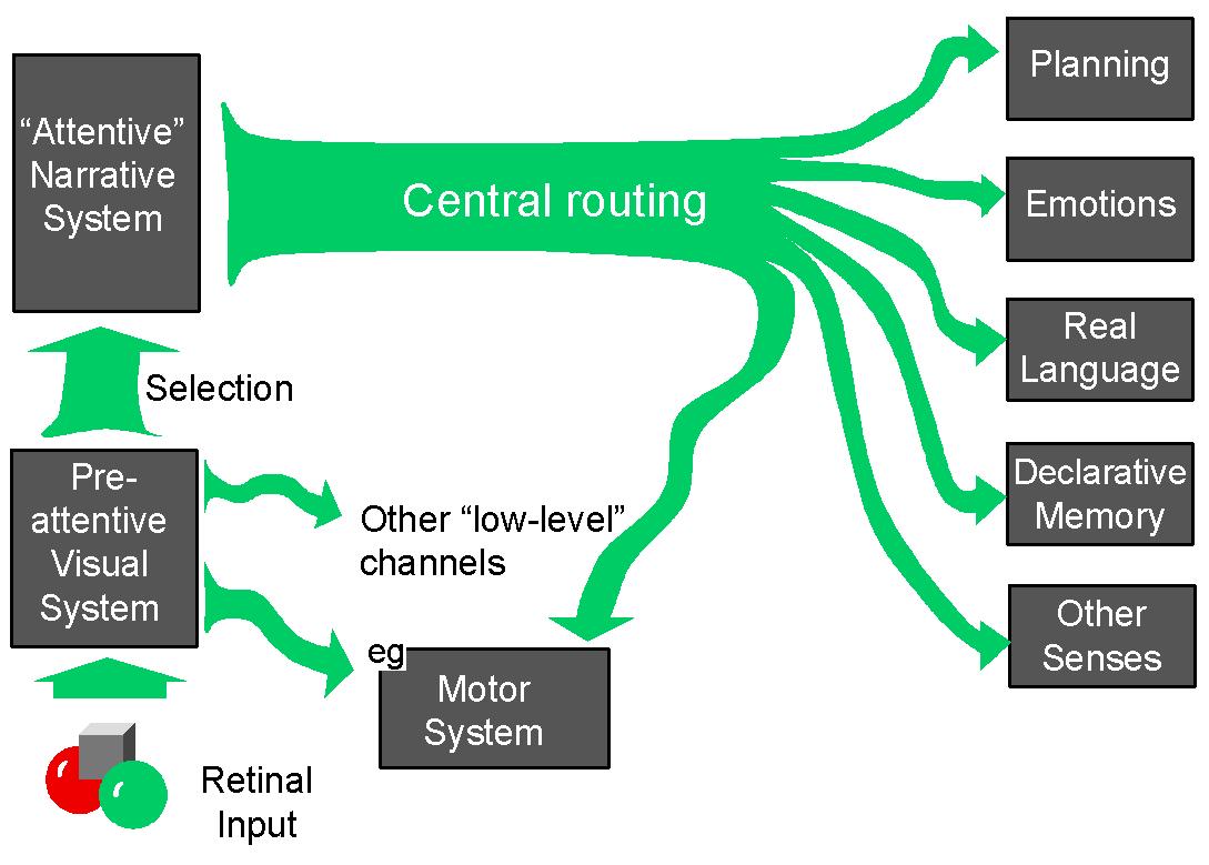 시각 언어 체계의 구성 모듈